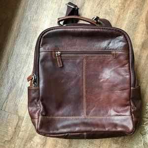 Jack Georges Leather Voyager Backpack Crossbody